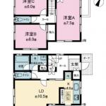 床下収納2ヶ所(間取)