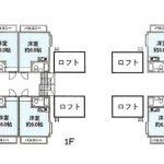 1R+ロフト×8戸(間取)