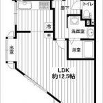 最上階角部屋1LDK!(間取)