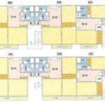 3DK×6戸、駐車場3台分(間取)