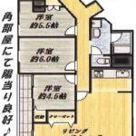 7階角部屋!陽当り眺望良好!(間取)