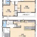 明るいオール電化住宅(間取)