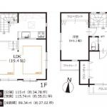 床暖房のあるデザイン住宅(間取)