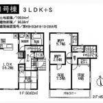 角地の3LDK+S!(間取)