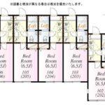 1K×14戸(間取)