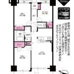 家具付きリノベーションマンション(間取)